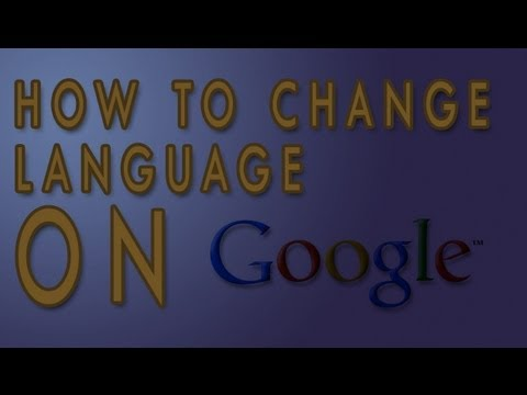 How to change language in google 2012
