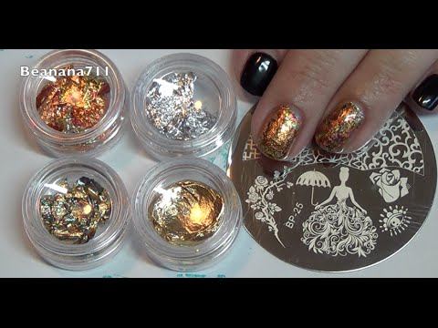 Gold Foil & Stamping Nail Design - BPS Review