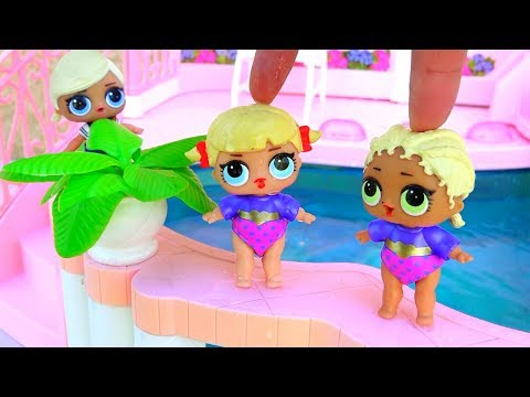 LOL Surprise Babies Go Swimming ! Toys and Dolls Fun Meeting Series 2 Girls