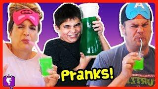 SODA STREAM CHALLENGE! HobbyKids Play Joke on HobbyDad
