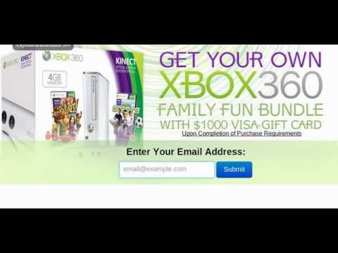 Get Free Xbox360 Family Bundle With $1000 Visa Gift Card