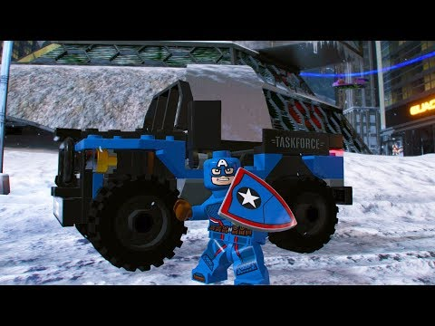 LEGO Marvel Super Heroes 2 Captain America's 4x4 Unlock + Free Roam Gameplay