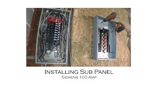 Download How to Install an Electric Sub Panel and Tie-In to Adjacent Main Panel from Start to Finish Video