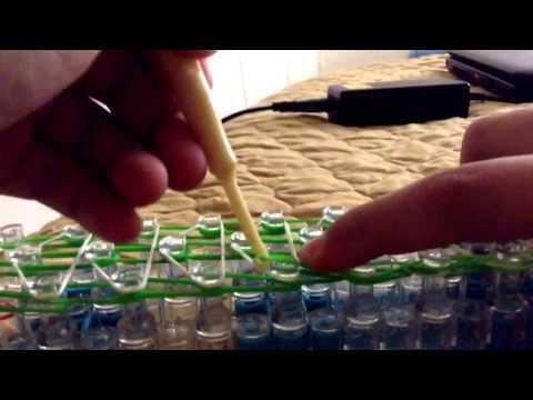 how to make waterfall bracelet rainbow loom (DIY)