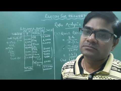 Accounting Ratios ( Balance sheet Ratios) Lecture- 1 by Rakesh Sir