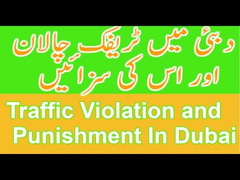 Traffic Violation and Punishment In Dubai Urdu | Hindi