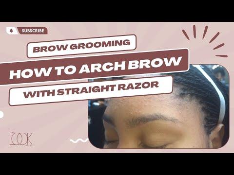 Eyebrow arch using a straight razor
