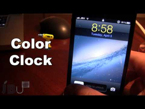 ColorClock - Change Time & Date Color on Lockscreen (Cydia Tweak)