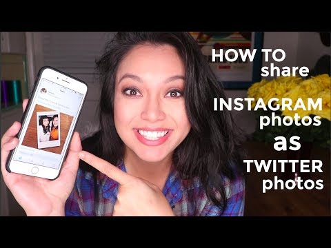 How to share INSTAGRAM photos as TWITTER photos - IFTTT Tutorial