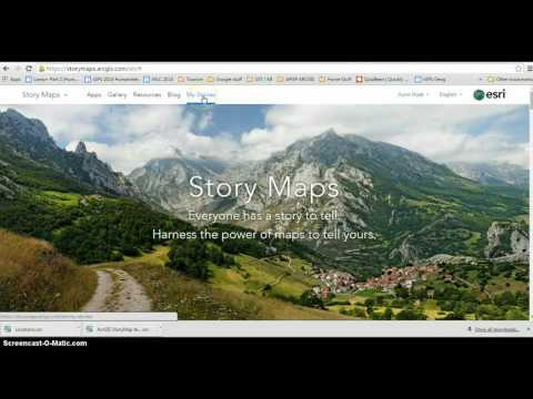 How to create a storymap in ArcGIS