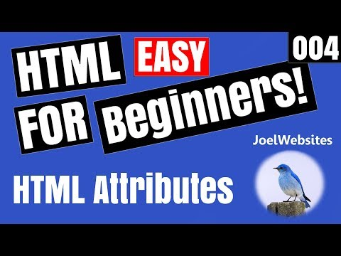 004 - HTML Tutorial for Beginners - HTML Attributes with Examples!