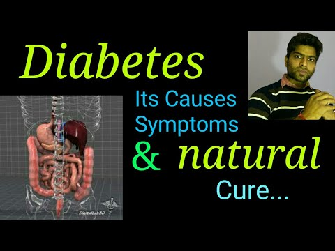 Diabetes sign, symptoms, causes and its permanent cure at home  in hindi.