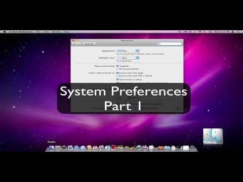 Mac OS X System Preferences Part 1