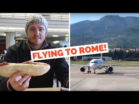 Flying to Rome from Malaga | Italy Travel Vlog