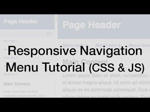 Responsive Web Design Navigation Menu Tutorial