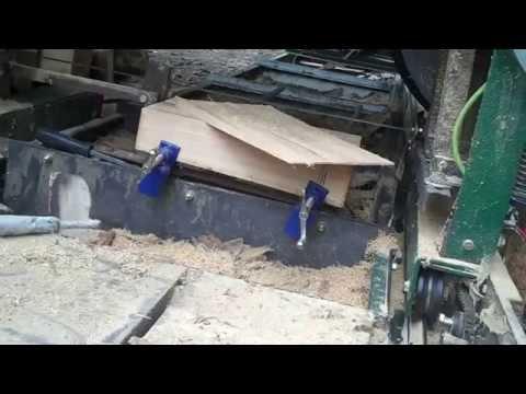 DIY bandsaw mill shingle jig