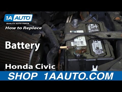 How to Install Replace Remove Battery 2001-05 Honda Civic