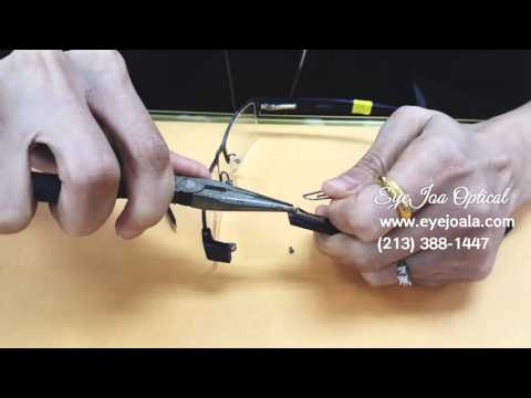 Spring hinge glasses repair (How to fix) @ Eyejoa Optical