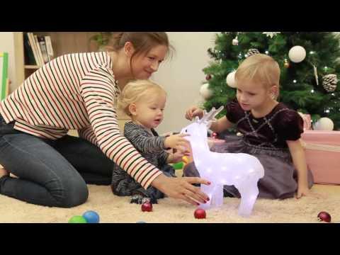 JAGO Acrylic Christmas Lighting Reindeer WNBLT02