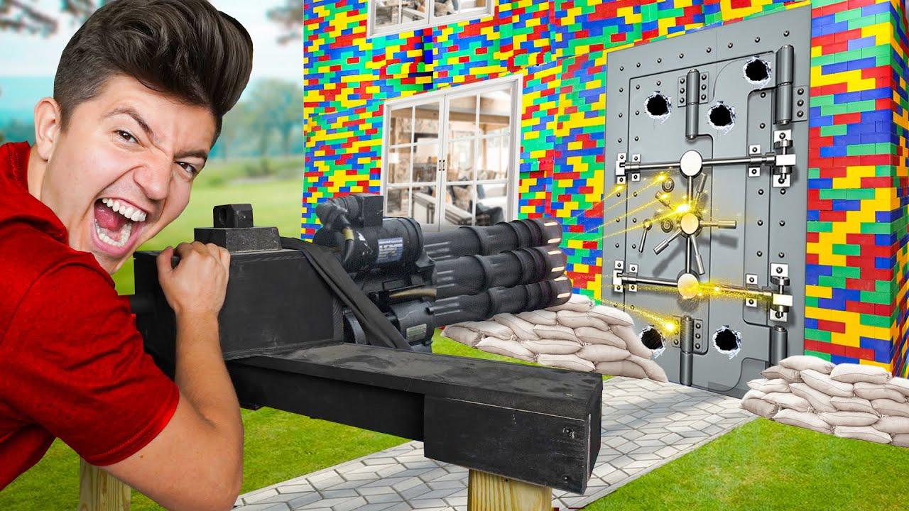 I Built The World's Strongest LEGO House!