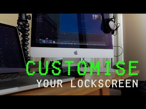 Customise your MacBook Lock Screen (helps if its lost)| Mac Tips #1