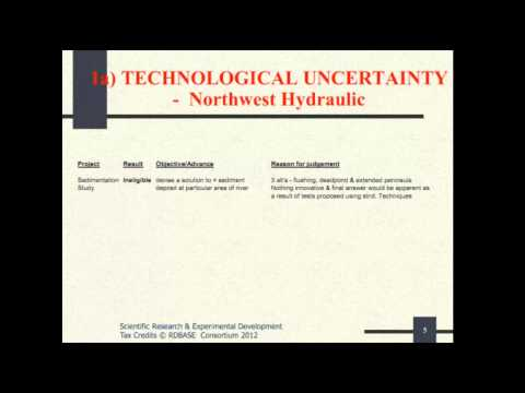 Tax Court Cases - 1 Technological Uncertanity