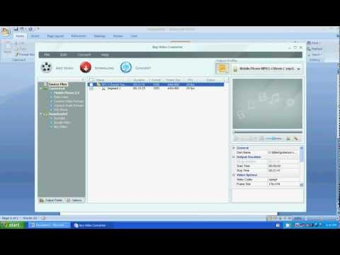 How to cut video using any video converter (AVC)