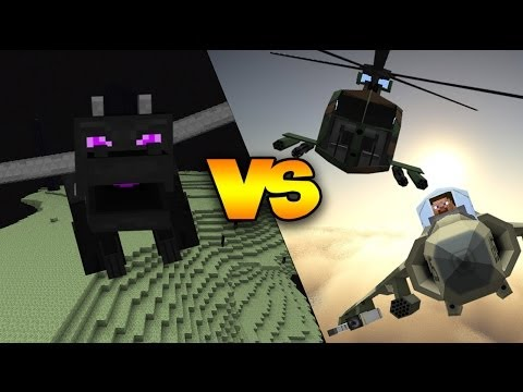 ENDER DRAGON VS FIGHTER JETS, HELICOPTERS, MISSILES, & MORE! | Minecraft Boss Fight