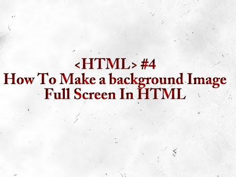 HTML for Beginners - HTML Background Image Full Screen