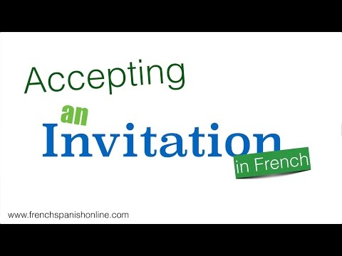 4 ways to accept an invitation in French