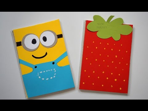 DIY Notebook Covers Minions & Strawberry | Back To School 2015