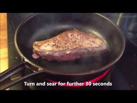 Perfect steak method: stove to oven chef method in #AustralianMade #Solidteknics #castiron - video