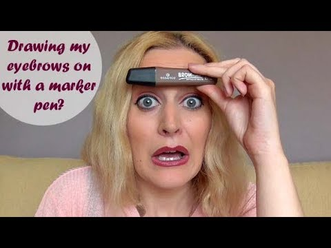 DRAWING EYEBROWS ON WITH A MARKER PEN?!