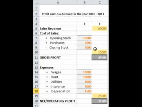 Business Finance: Profit and Loss Account Tutorial