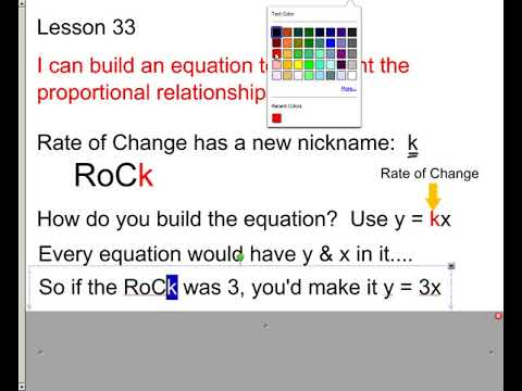Lesson - Equations to Represent Proportional Relationships