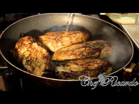 Pan Fried Chicken Breast Served With Vegetables | Recipes By Chef Ricardo