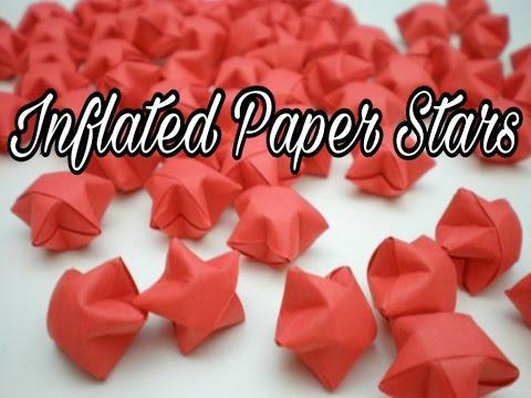 Inflated Paper Stars ! 3D Stars ! Origami Stars ! Home Decor ! Tiny Stars ! Craft With TK