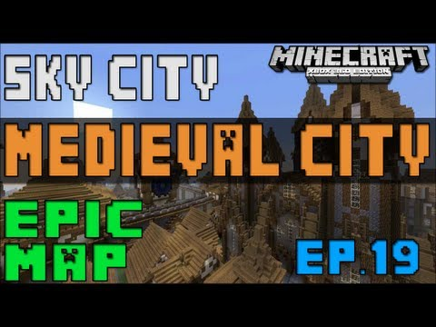 Minecraft (Xbox 360) - Awesome World's Ep. 19 (Medieval City & Sky City & More) Download