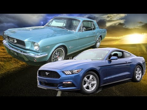 52 Years of FORD MUSTANG Body Design Evolution 1965-2018