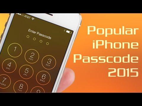 Top 10 Popular iPhone Passcode - Bypass 1 in 7 iPhones (2015)