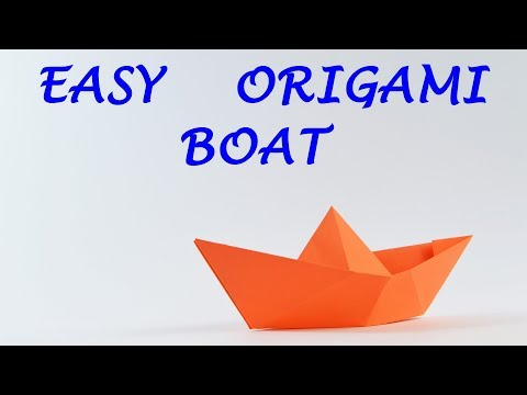 How to make an Origami Boat - Easy Origami for Kids