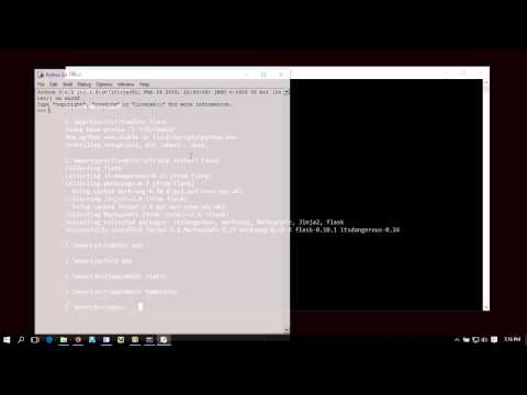 How to Setup Flask in Windows
