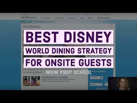 Best Disney World dining reservation strategy for onsite guests