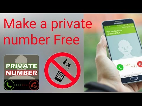 how to make a private number with Android app (Hindi)