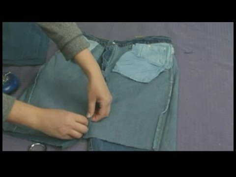 Making Handbags & Carryalls From Recycled Jeans : Make a Jeans Tote Bag: Materials & Cutting