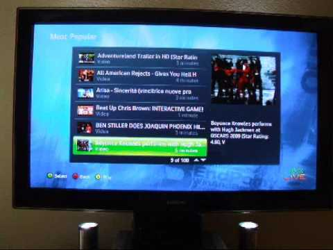 YouTube on Xbox 360 via PlayOn