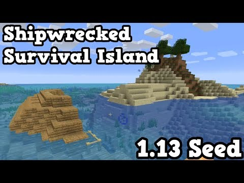 Minecraft 1.13 Seed - Survival Island SHIPWRECK SEED