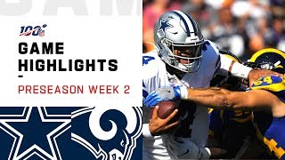 Cowboys vs. Rams Preseason Week 2 Highlights | NFL 2019