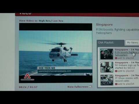 Singapore Navy Seahawk S-70B Antisubmarine Helicopter