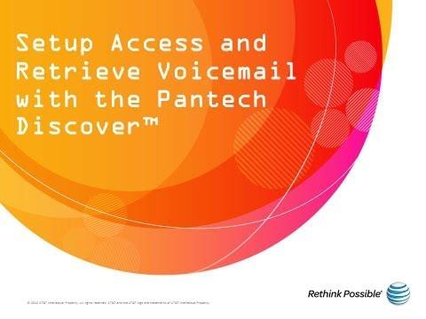 Pantech Discover : Voicemail
